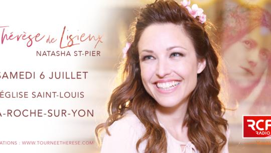 Concert de Natasha ST PIER le 6 juillet à la Roche sur Yon